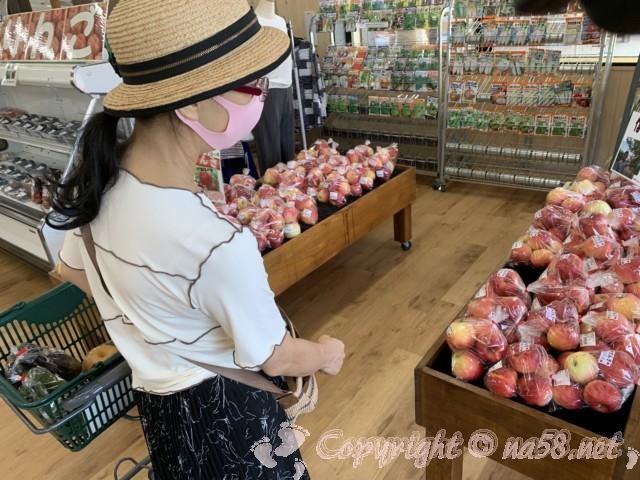 「道の駅 信州新野千石平」(長野県阿南町)9月りんごのシーズンがはじまる、農産物直売所