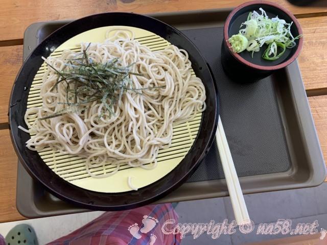 ひまわりの湯(長野県平谷村)併設の食事処「ひまわりランド」でざるそば