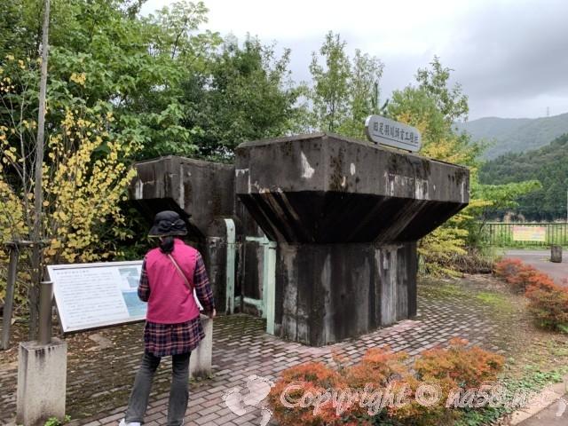 「道の駅 一乗谷あさくら水の駅」(福井県福井市)足羽川の旧堰堤保存