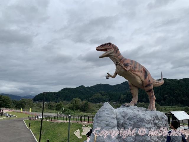 「道の駅 恐竜渓谷かつやま」(福井県勝山市)恐竜のモニュメント