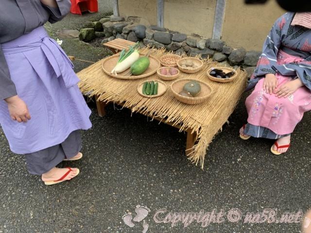 「一乗谷復原町並」(福井県福井市)町人の暮らし 野菜売り