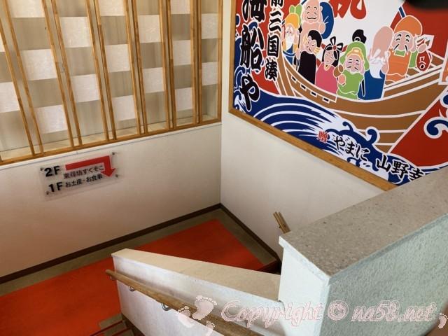 東尋坊(福井県坂井市)の無料駐車場 三国湊海船やから下に降りる階段