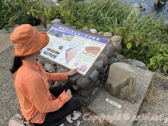 東尋坊(福井県坂井市)安山岩と柱状節理の解説