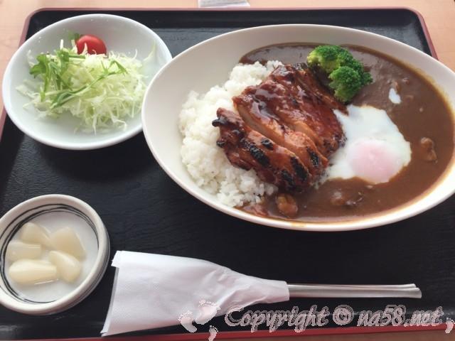 「道の駅みくに」(福井県坂井市)のレストランで食事 本日のランチ照り焼きチキンカレー