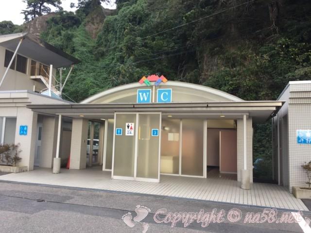「道の駅越前」(福井県越前市)24時間トイレ 海産物販売所となり