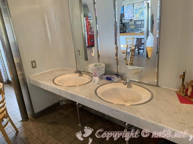 道の駅河野(福井県南越前町)施設内の洗面所