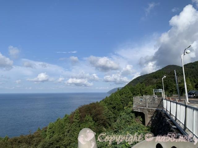 道の駅河野(福井県南越前町)展望デッキからの景観