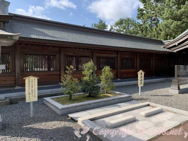 氣比神宮(福井県敦賀市)・境内の様子 車御祓い