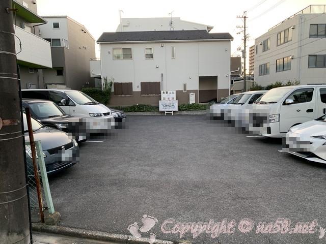 長喜温泉(名古屋市北区)の駐車場