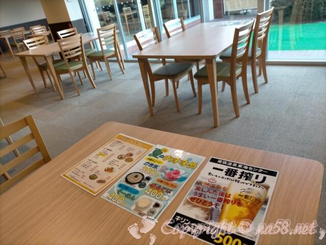 尾張温泉東海センター(蟹江町)食事 レストラン テーブル席