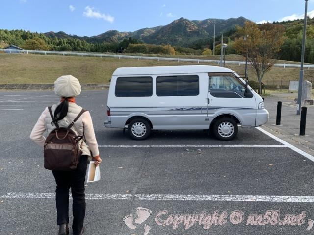 道の駅いが(三重県伊賀市)の駐車場端の方