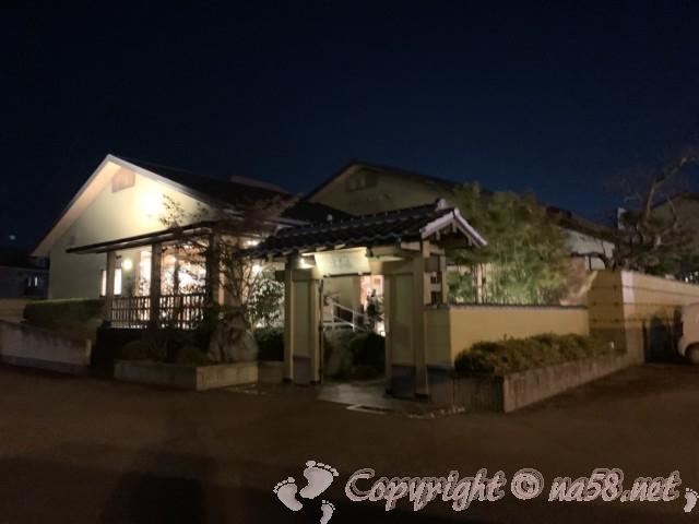 極楽温泉 幸の湯(和歌山県岩出市)の外観夜