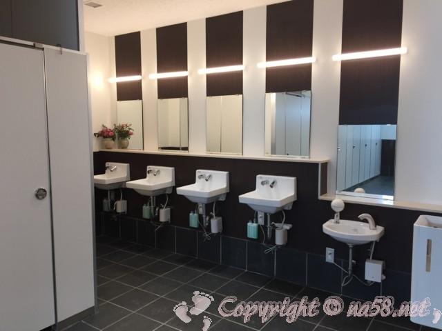 「道の駅 ねごろ歴史の丘」和歌山県岩出市 メイン施設側のトイレ女性用 洗面所