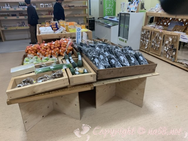 道の駅白崎海洋公園(和歌山県由良町)の施設内 物産販売