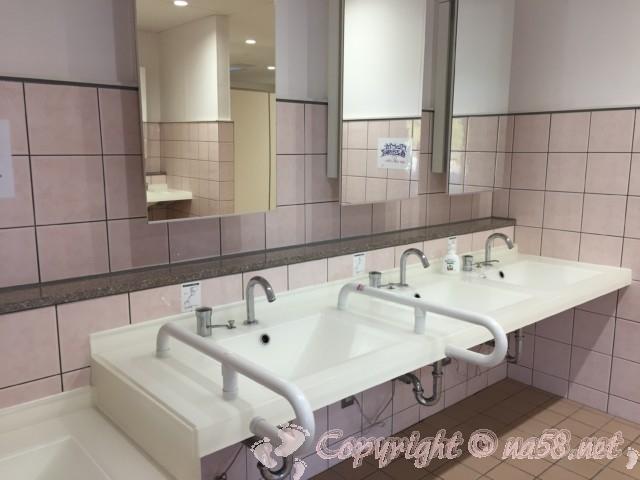 「道の駅くちくまの」(和歌山県上富田町)の女性用トイレの洗面手洗い