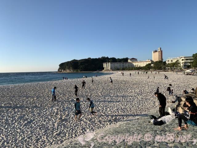 白良浜海水浴場(和歌山県白浜町)白良浜