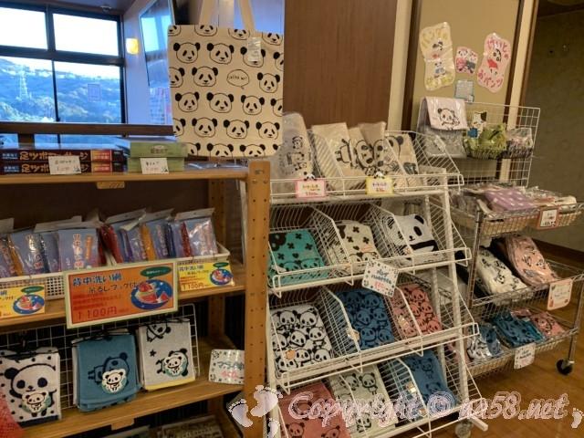とれとれの湯(和歌山県白浜町)の売店、パンダ関係多し