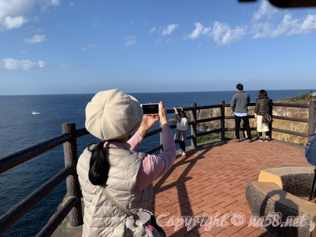 「三段壁」(和歌山県白浜町)絶壁です