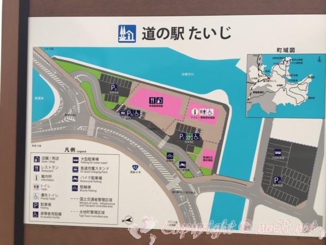 道の駅たいじ(和歌山県太地町)の駐車場案内図
