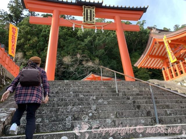 熊野那智大社の大鳥居(和歌山県那智勝浦町)