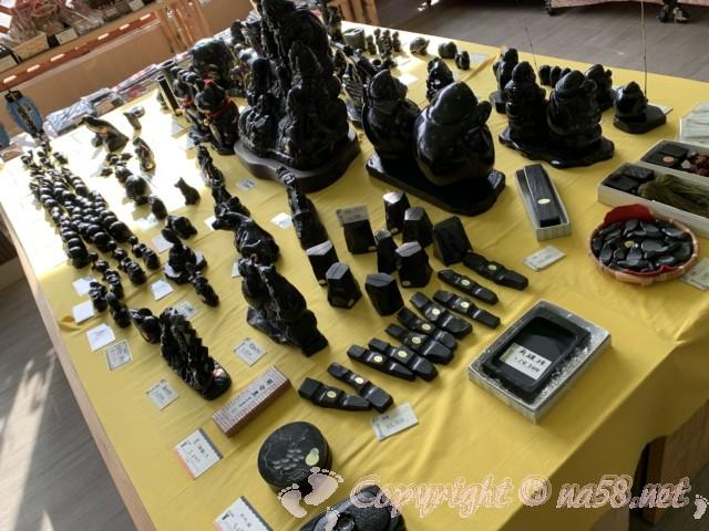 那智の滝・那智大社のお土産 黒い石、すずり、碁石など