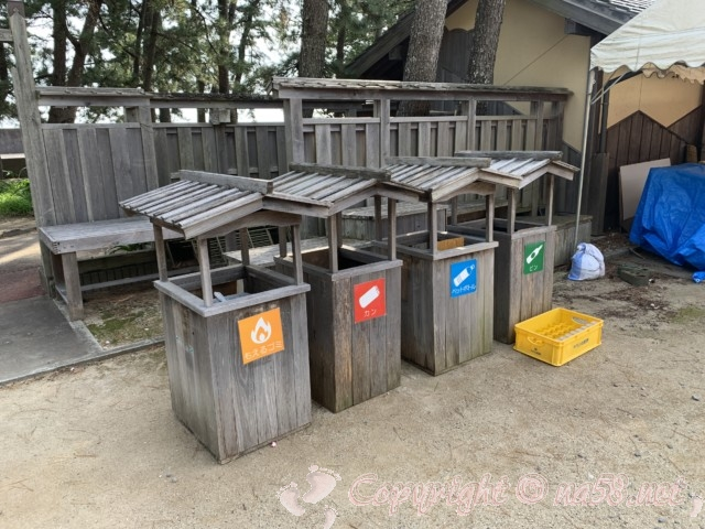 「道の駅 熊野・花の窟」(三重県熊野市)ゴミ箱