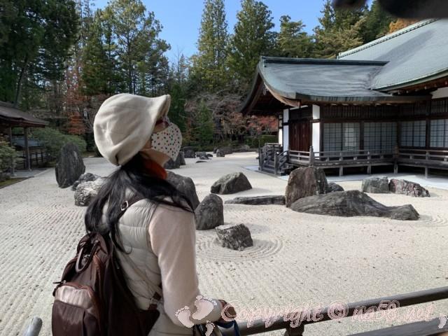 高野山の金剛峯寺 お庭枯山水