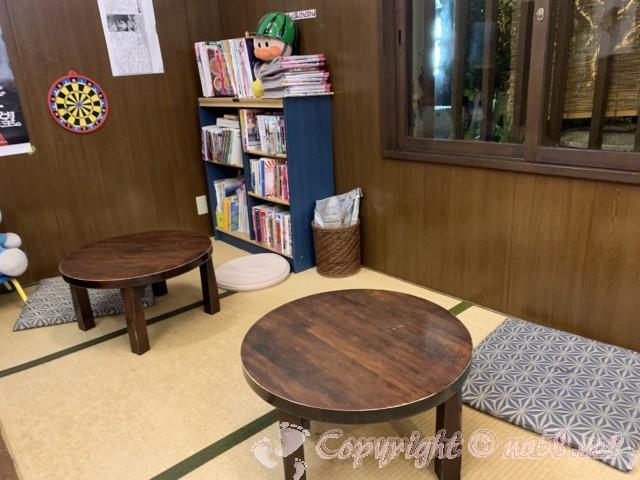 報徳湯(名古屋市北区)待合所の畳のスペース