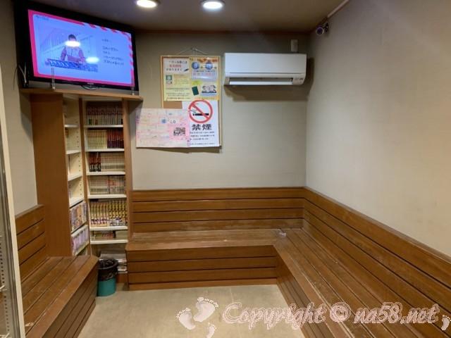 「はぎの湯」(名古屋市北区)の待合所休憩所
