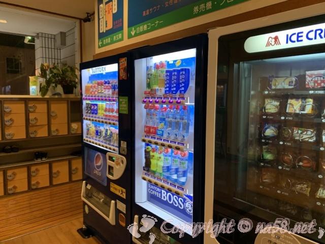 春日井温泉(愛知県春日井市)飲み物とアイスの自販機