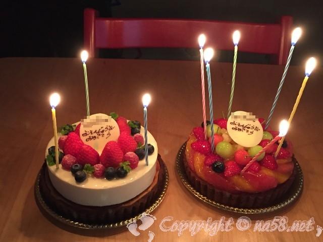 あま市の仏蘭西風洋菓子ミストラル(Mistral)のケーキ(おたんじょうびおめでとう)