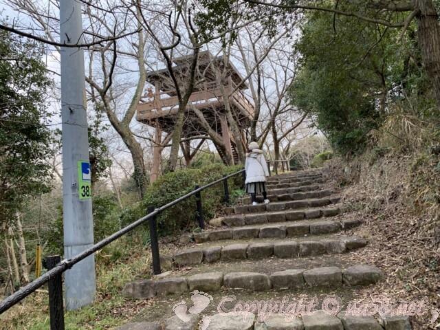 聖崎公園(愛知県南知多町)展望台が見えてきた