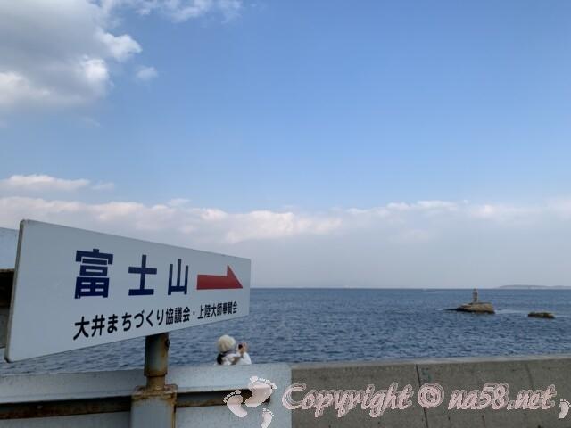 聖崎公園(愛知県南知多町)海に面した防波堤から上陸大師像を