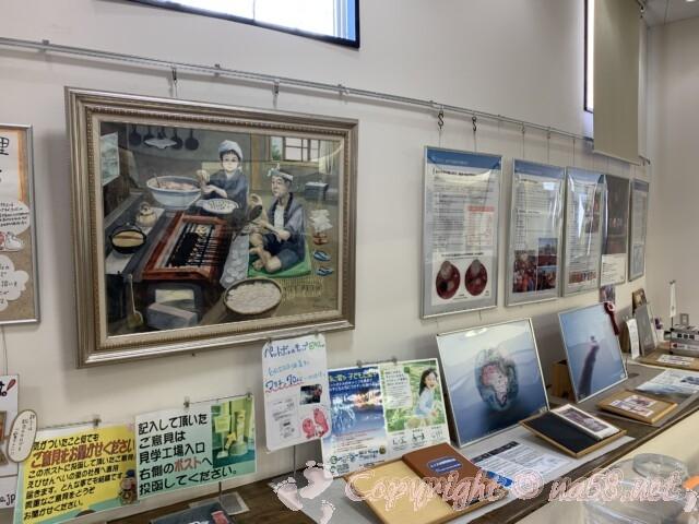 えびせんべいの里美浜本店 愛知県美浜町 資料展示