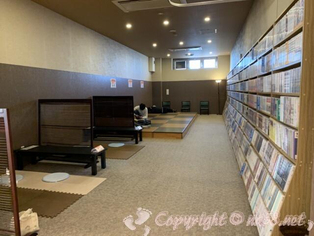 マーゴの湯 常滑温泉 愛知県常滑市 無料休憩所と大量のマンガ