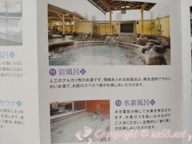 喜多の湯(庄内温泉)名古屋市北区 露天の岩風呂と水素風呂