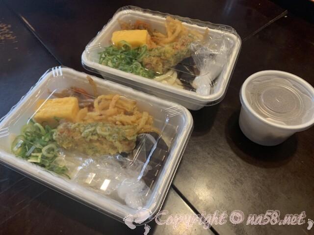 丸亀製麵 うどん弁当 390円と650円の二種類