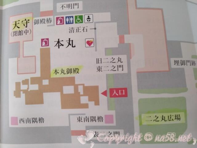 名古屋城(名古屋市中区)の案内図