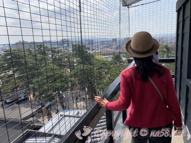 岡崎城 天守閣最上階からの景観
