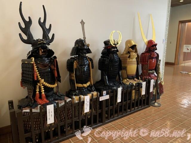 岡崎公園内 三河武士のやかた家康館 色とりどりの甲冑
