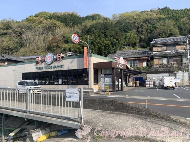 吉野川沿いの「リバーフィールドよしの」の向かいにあるスーパーヨシスト