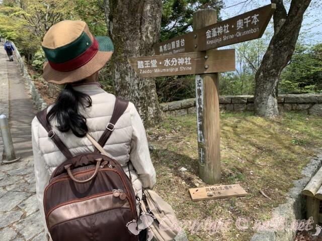 吉野山 奥千本近くの道標