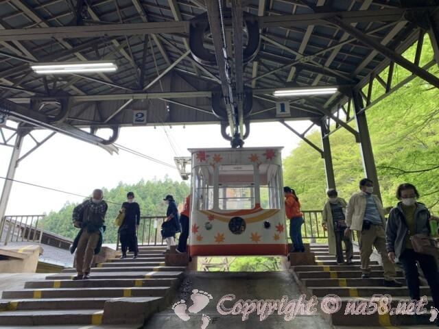吉野山のロープウェイ 千本口駅