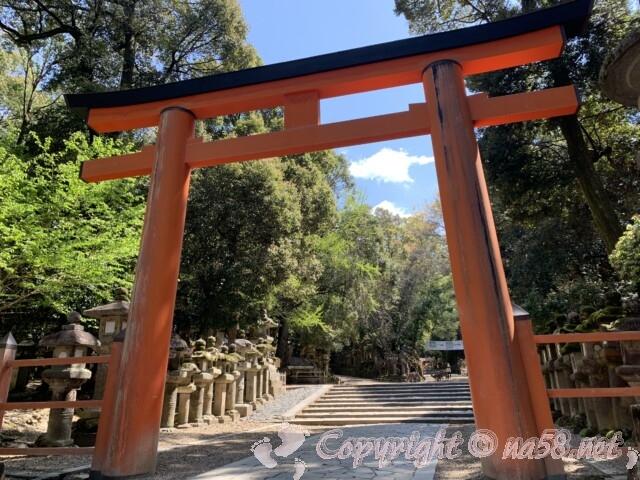 奈良県春日大社 境内内の朱色の大鳥居