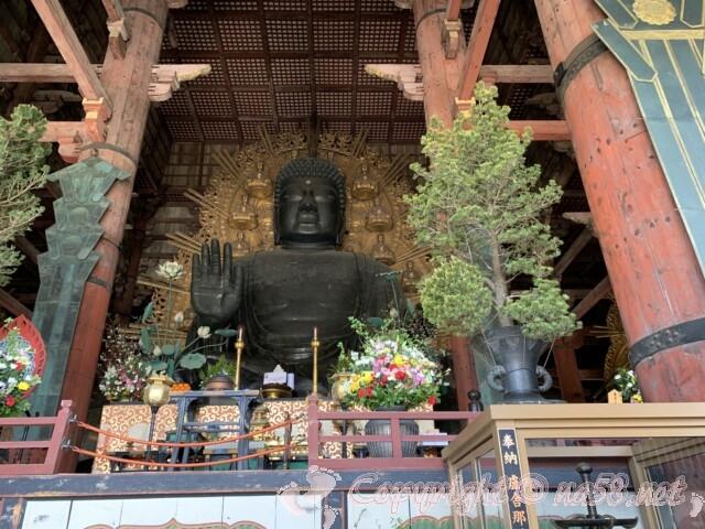 奈良の大仏様 正面の姿