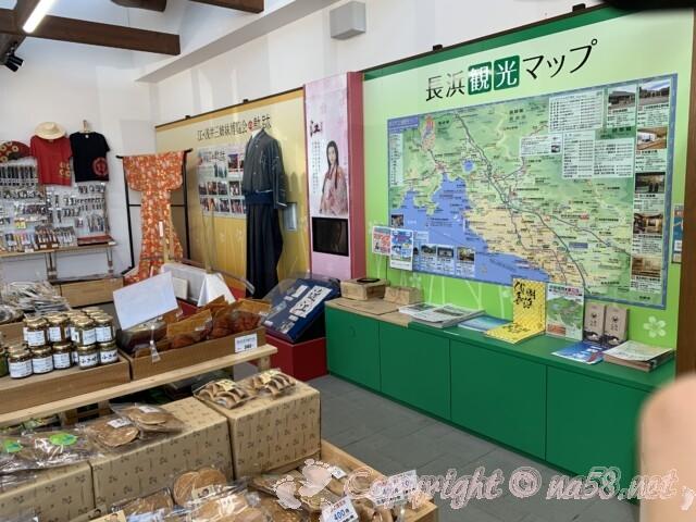 「道の駅 浅井三姉妹の郷」 ドラマ浅井三姉妹の展示