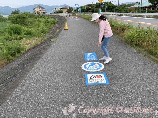 道の駅湖北みずどりステーション(滋賀県長浜市)そばのサイクリングロード