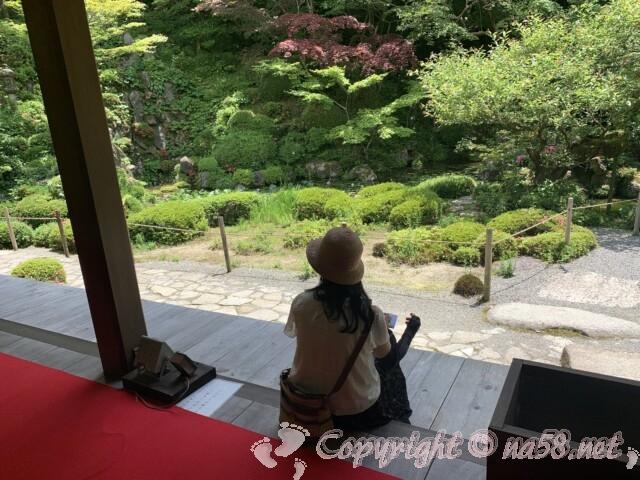金剛輪寺(滋賀県愛知郡)名勝庭園を見る 和尚さんの解説あり
