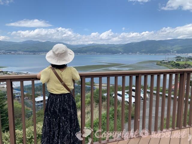 諏訪湖上りSAからの諏訪湖の景観
