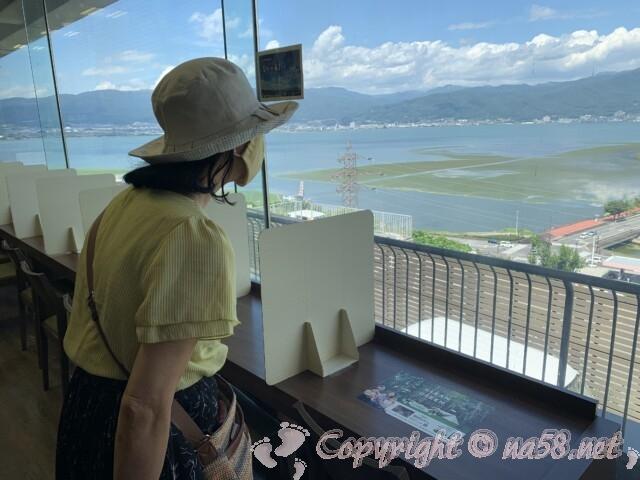 諏訪湖SA 諏訪湖を一望できるレストラン